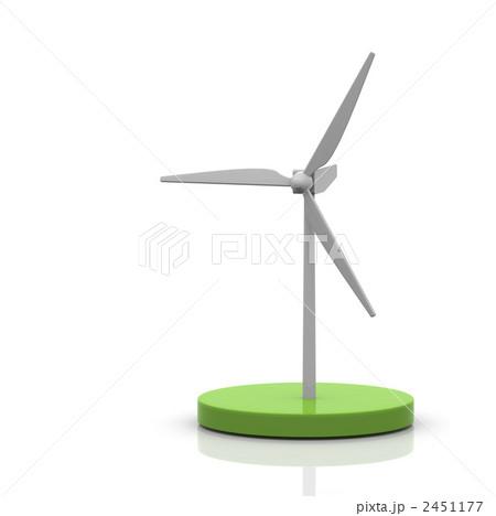 風力発電機 風力発電 風車のイラスト素材 2451177 Pixta