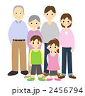 孫 祖父母 三世代のイラスト 2456794