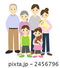 孫 三世代 祖父母のイラスト 2456796