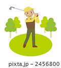 シニア スイング ゴルフのイラスト 2456800