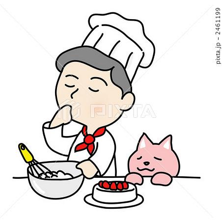 ケーキ作りのイラスト素材 ... : 幼稚園児 イラスト : イラスト