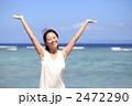 波照間島の海とワンピースの女性 2472290