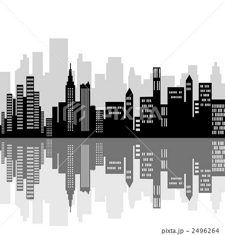 都市のシルエットのイラスト素材 [2496264] , PIXTA