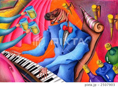 ポップイラスト - ピアニスト 2507903