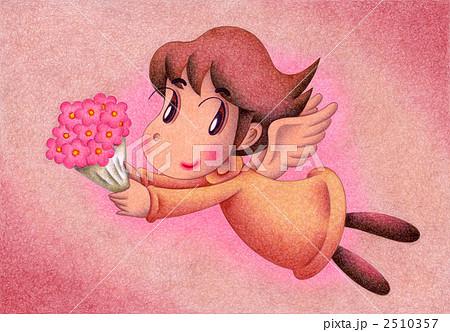 天使のイラスト - 花束 2510357