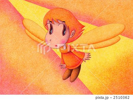 天使のイラスト - オレンジ天使 2510362
