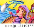 ピエロ 道化師 色鉛筆画のイラスト 2510377