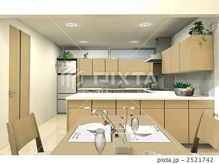 ... コの字型キッチン. 室内写真