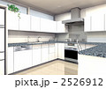 コの字型キッチンのホワイト扉バージョン 2526912