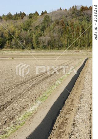 田んぼの畝たて 2538233