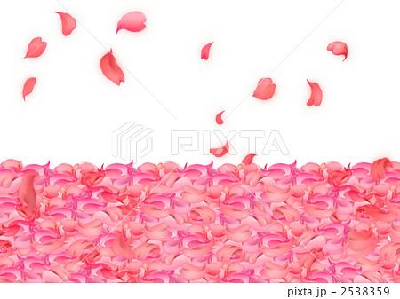 桜 花びらのイラスト素材 2538359 Pixta