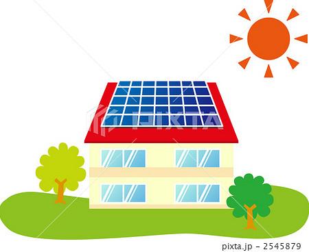 太陽光発電のイラスト素材 2545879 Pixta