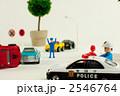 自動車事故 警察車両 追突事故の写真 2546764