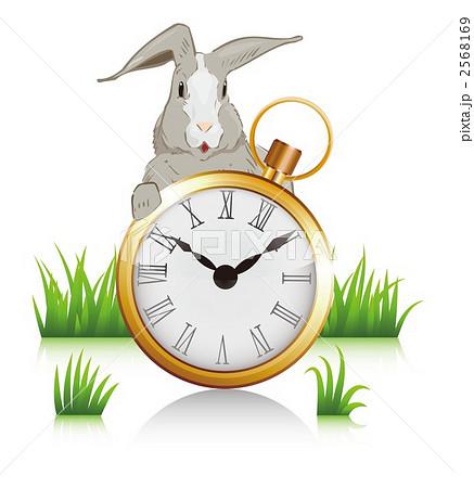 アリスのウサギのイラスト素材 2568169 Pixta