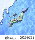 東アジア/日本地図 2584031