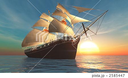 帆船 航海 船のイラスト素材 [25...
