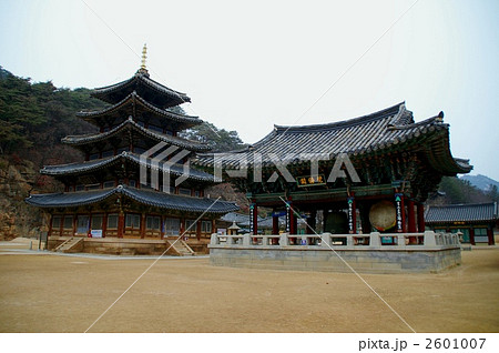 韓国・俗離山の写真素材 [260100...