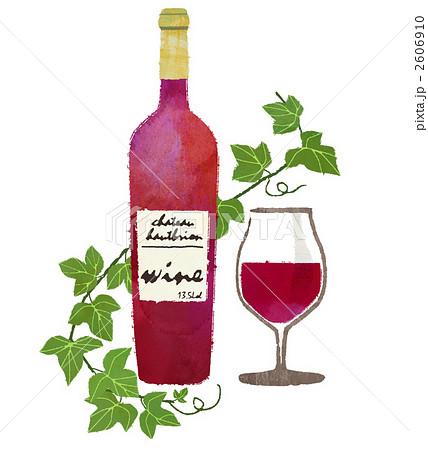 ワインとグラスのイラスト素材 2606910 Pixta