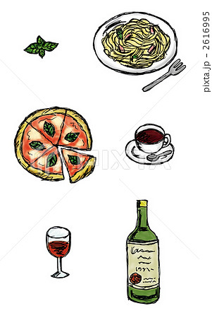 イタリア料理のイラスト素材 2616995 Pixta