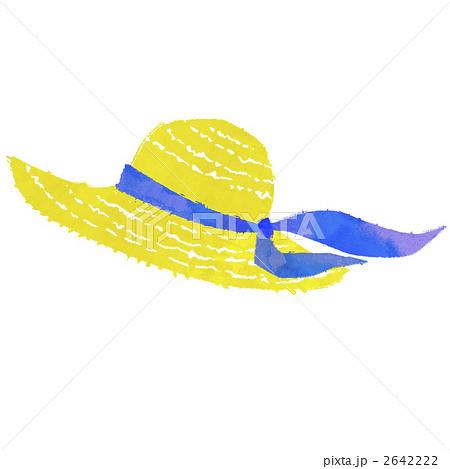 麦わら帽子 帽子 ファッショングッズのイラスト素材 2642222 Pixta