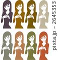 女性のシルエットパターンのイラスト 2645353