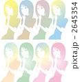 女性のシルエットパターンのイラスト 2645354