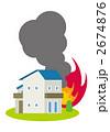 出火 火災 火事のイラスト 2674876