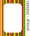 マルチストライプ(クリスマスカラー)の枠 2685681