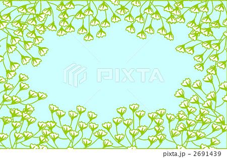 枠 かすみ草 カスミソウのイラスト素材 2691439 Pixta