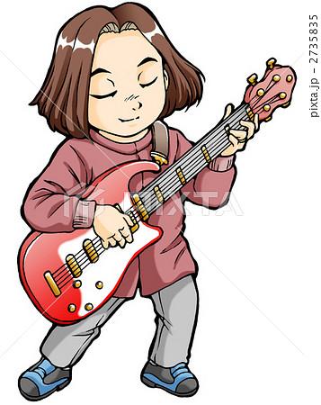 イラスト素材: ミュージシャン(エレキギター)