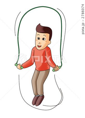 イラスト素材: 適度な運動(縄跳び)