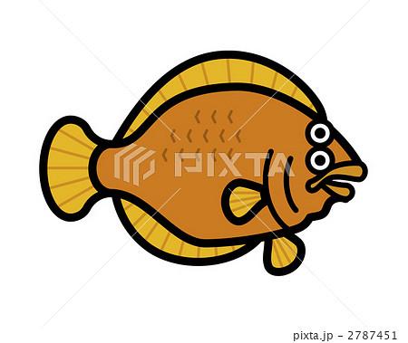 魚のイラスト カレイ 鰈 かれいのイラスト素材 2787451 Pixta