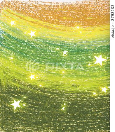 クレヨンで描いた星背景 黄緑 2792532