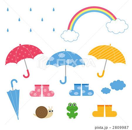 梅雨イラストセットのイラスト ...