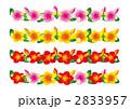飾り罫 ハイビスカス 花のイラスト 2833957