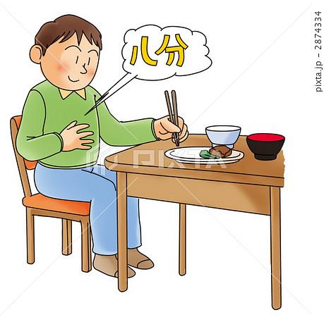 食生活(腹八分)のイラスト素材...