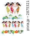 フラダンス フラガール 女性のイラスト 2875321