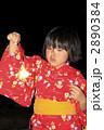 線香花火をする女の子 2890384