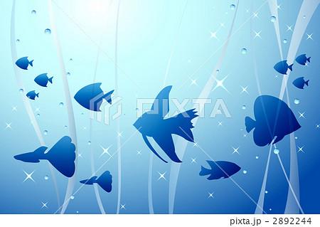 水槽の中の熱帯魚のイラスト素材 2892244 Pixta