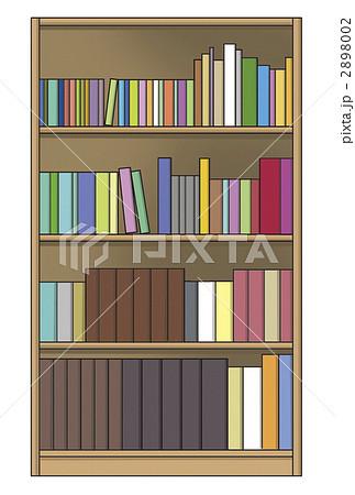本棚のイラスト素材 [2898002] - PIXTA