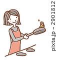主婦 料理 女子のイラスト 2901812