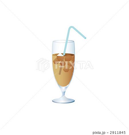 アイスカフェオレのイラストのイラスト素材 2911845 Pixta