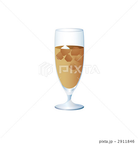 アイスカフェオレのイラストのイラスト素材 2911846 Pixta