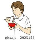 女性 食べる 食事のイラスト 2923154