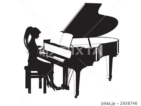 ピアノレッスンのイラスト素材 2938740 Pixta
