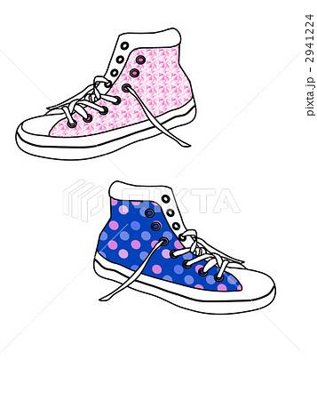 長靴 子供 長靴 サイズ : イラスト素材: スニーカー 靴 ...