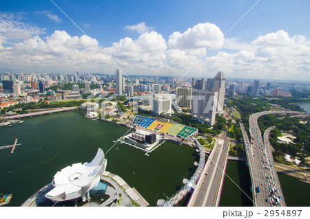シンガポール マリーナ・ベイ・サンズホテルから 2954897