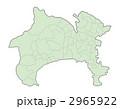 神奈川県地図(色付) 2965922