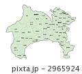 神奈川県地図(色付・地名有) 2965924