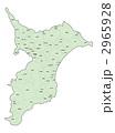 千葉県地図(色付・地名有) 2965928
